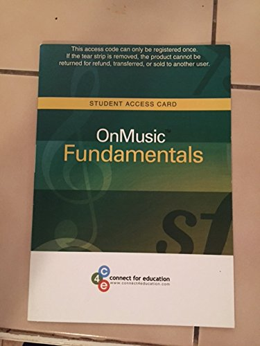 OnMusic Fundamentals   2016 9780977927685 Front Cover
