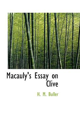 Macauly's Essay on Clive  N/A edition cover