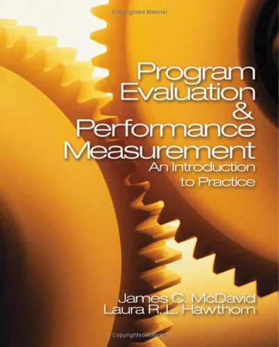 Program Evaluation and Performance Measurement An Introduction to Practice  2006 edition cover