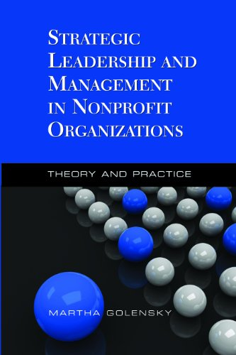 Strategic Leadership and Management in Nonprofit Organizations Theory and Practice  2010 edition cover