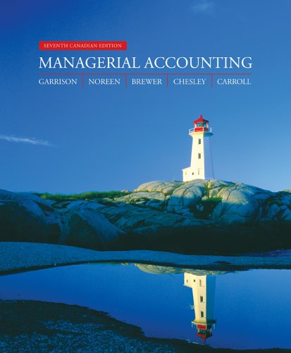 MANAGERIAL ACCT. >CANADIAN< 7th 2006 edition cover