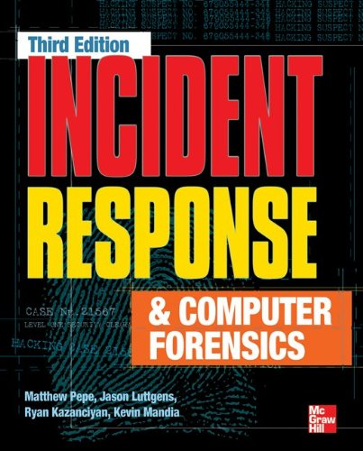 Incident Response and Computer Forensics  3rd 2014 edition cover