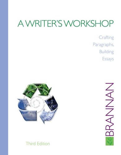 Writer's Workshop Crafting Paragraphs, Building Essays 3rd 2010 edition cover