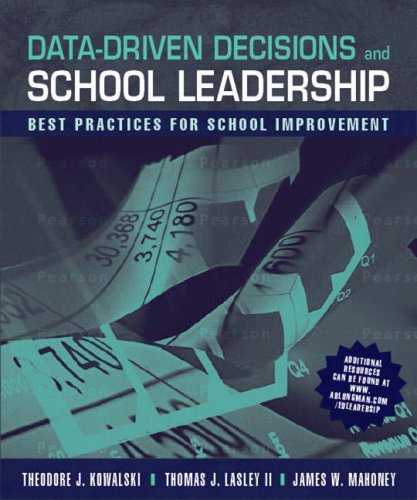 Data-Driven Decisions and School Leadership Best Practices for School Improvement  2008 edition cover