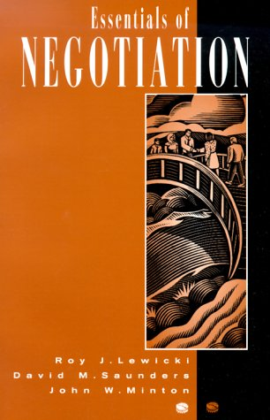Essentials of Negotiation  N/A 9780256241686 Front Cover