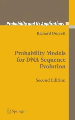 Probability Models for DNA Sequence Evolution  2nd 2008 edition cover