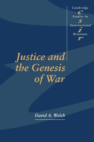 Justice and the Genesis of War  N/A 9780521558686 Front Cover