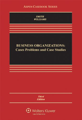 Business Organizations Cases Problems and Case Studies 3rd 2012 (Revised) edition cover