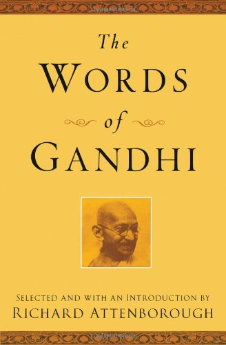 Words of Gandhi  2nd 2001 (Reprint) edition cover