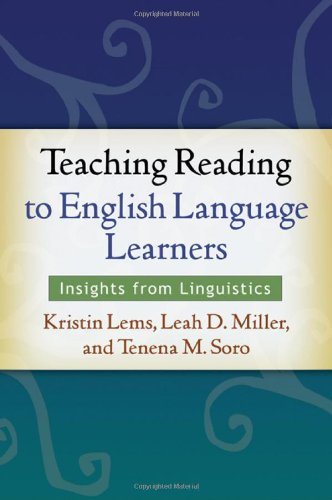 Teaching Reading to English Language Learners Insights from Linguistics  2010 9781606234686 Front Cover