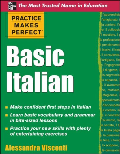 Practice Makes Perfect Basic Italian   2011 edition cover