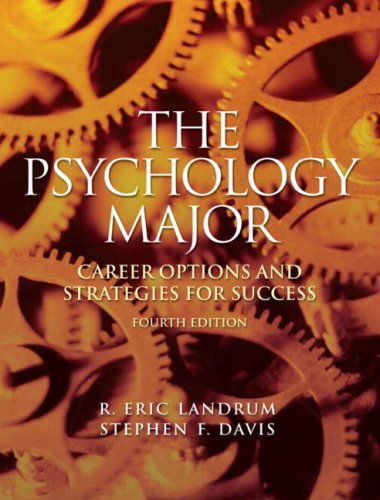 Psychology Major Career Options and Strategies for Success 4th 2010 edition cover