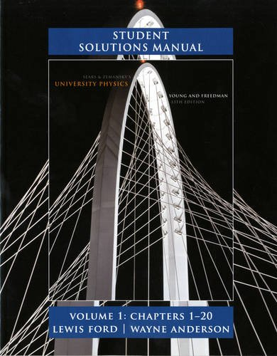 Student Solutions Manual for University Physics Volume 1 (Chs. 1-20)  13th 2012 edition cover
