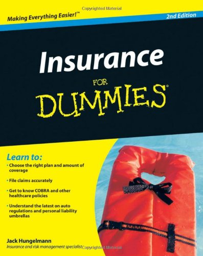 Insurance for Dummies  2nd 2009 edition cover