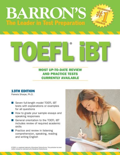 Barron's TOEFL iBT  13th 2010 (Revised) edition cover