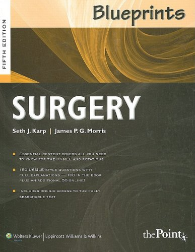Blueprints Surgery  5th 2009 (Revised) 9780781788687 Front Cover