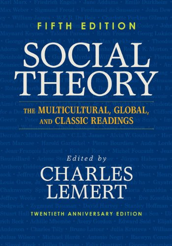 Social Theory The Multicultural, Global, and Classic Readings  2013 edition cover