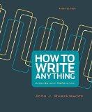 How to Write Anything A Guide and Reference 3rd 2015 edition cover