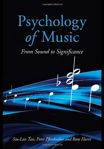 Psychology of Music From Sound to Significance  2010 9781841698687 Front Cover