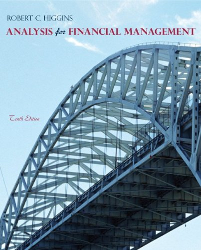 Analysis for Financial Management  10th 2012 edition cover