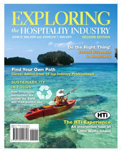 Exploring the Hospitality Industry  2nd 2012 edition cover
