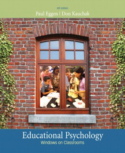 Educational Psychology Windows on Classrooms 8th 2010 edition cover