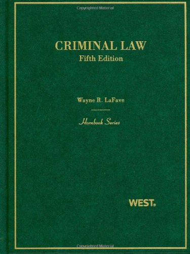 Criminal Law  5th 2010 (Revised) edition cover