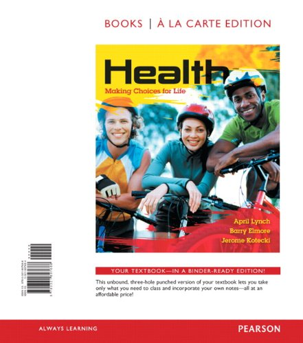 Health Making Choices for Life, Books a la Carte Edition  2014 edition cover