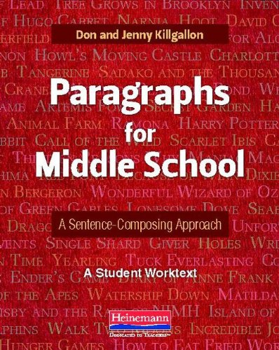 Paragraphs for Middle School: A Sentence-Composing Approach  2013 edition cover