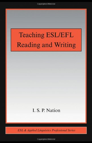 Teaching ESL/EFL Reading and Writing   2009 edition cover