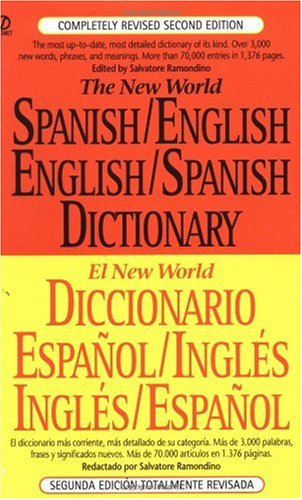 New World Spanish/English, English/Spanish Dictionary  2nd 1996 (Revised) edition cover