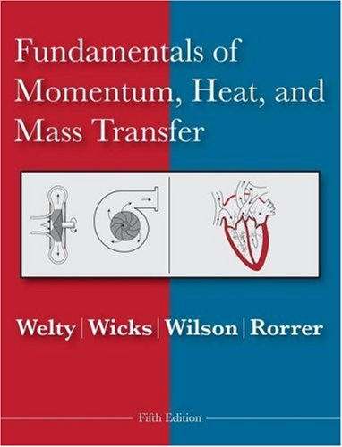 Fundamentals of Momentum, Heat and Mass Transfer  5th 2008 edition cover