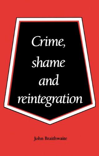 Crime, Shame and Reintegration   1989 edition cover