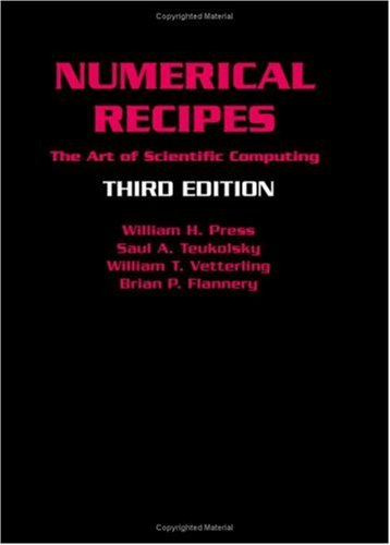 Numerical Recipes The Art of Scientific Computing 3rd 2007 (Revised) edition cover