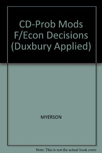 Probability Models for Economic Decisions   2005 9780534424688 Front Cover