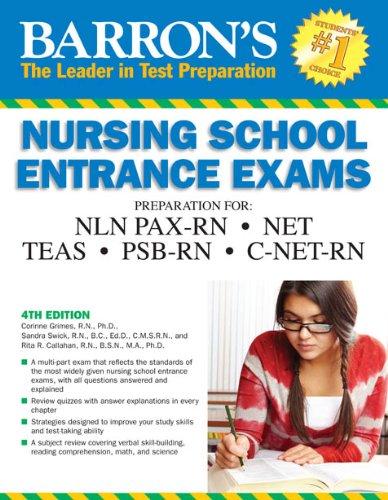 Barron's Nursing School Entrance Exams, 4th Edition  4th 2011 (Revised) edition cover