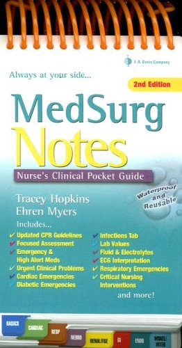 MedSurg Notes Nurse's Clinical Pocket Guide 2nd 2008 (Revised) edition cover