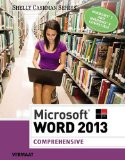 Microsoft� Word 2013, Comprehensive   2014 edition cover