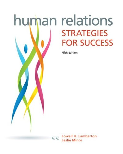 Human Relations Strategies for Success 5th 2014 edition cover