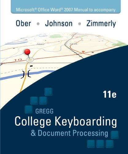 Gregg College Keyboarding and Document Processing  11th 2011 edition cover