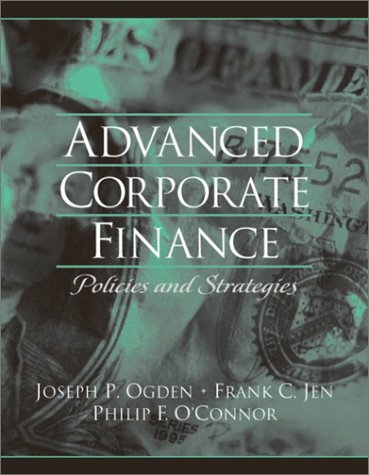 Advanced Corporate Finance   2003 9780130915689 Front Cover