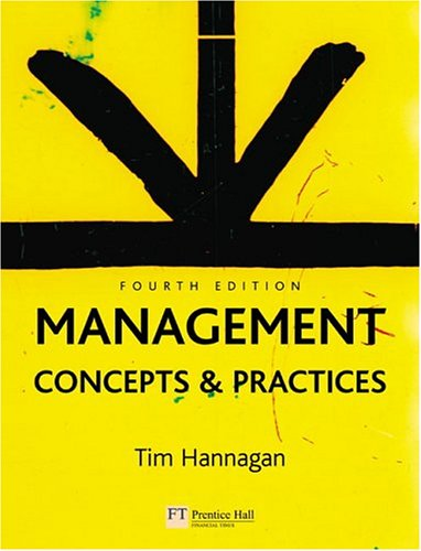 Management Concepts and Practices 4th 2005 (Revised) 9780273687689 Front Cover