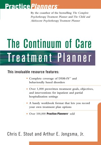 Continuum of Care Treatment Planner  1st 1997 edition cover