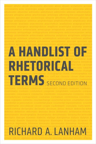 Handlist of Rhetorical Terms  2nd edition cover
