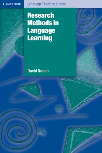 Research Methods in Language Learning   1992 9780521429689 Front Cover