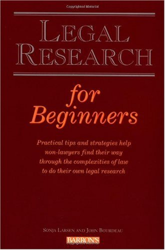 Legal Research for Beginners   1997 edition cover