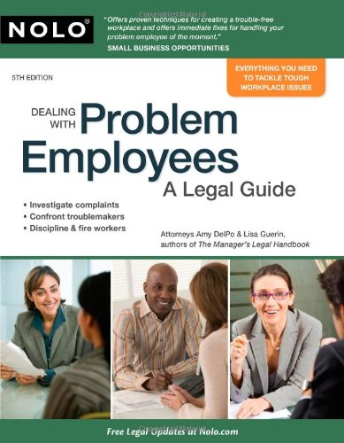 Dealing with Problem Employees A Legal Guide 5th 2009 (Revised) edition cover