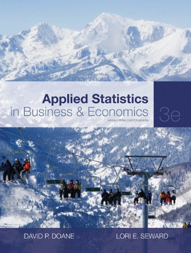 Applied Statistics in Business and Economics  3rd 2011 edition cover