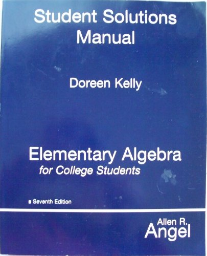 Elementary Algebra for College Students (SSM) 7th edition cover