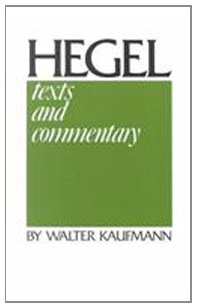 Hegel Texts and Commentary Theology  1977 edition cover